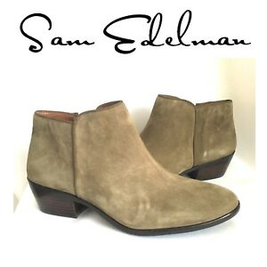 0013019c7edb6 SAM EDELMAN Petty Boots MOSS GREEN Suede Leather 9 W DARK OLIVE ...