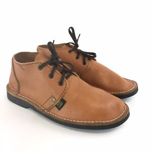 Vintage-Handmade-Size-UK6-Mens-Brown-Leather-Kudu-Lace-Up-Chukka-Casual-Shoes