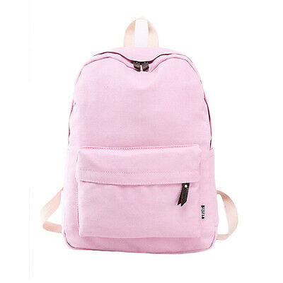 Women Cute Canvas Backpack School Bag Girl Fashion Travel Rucksack Shoulder Bag