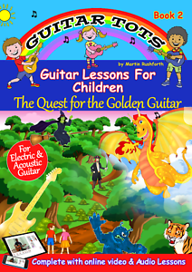 Guitar Tots Book 2 - Book, Online Video & Audio Lessons For Children