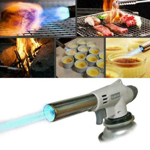 Metal Flame Gun BBQ Heating Ignition Butane Camping Gas 2019 Torch Welding S0S6