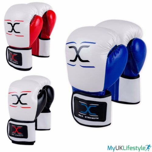 Maya Leather Boxing Gloves Sparring Punch Bag Muay Thai kickboxing MMA Training