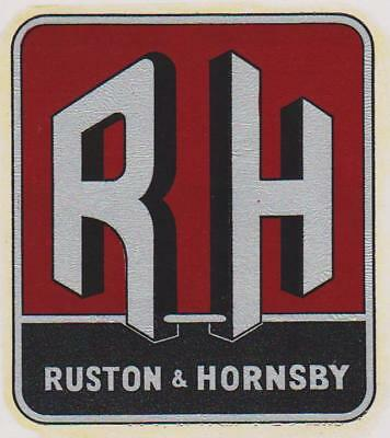 """7.5/"""" Ruston /& Hornsby Roundel Transfers"""