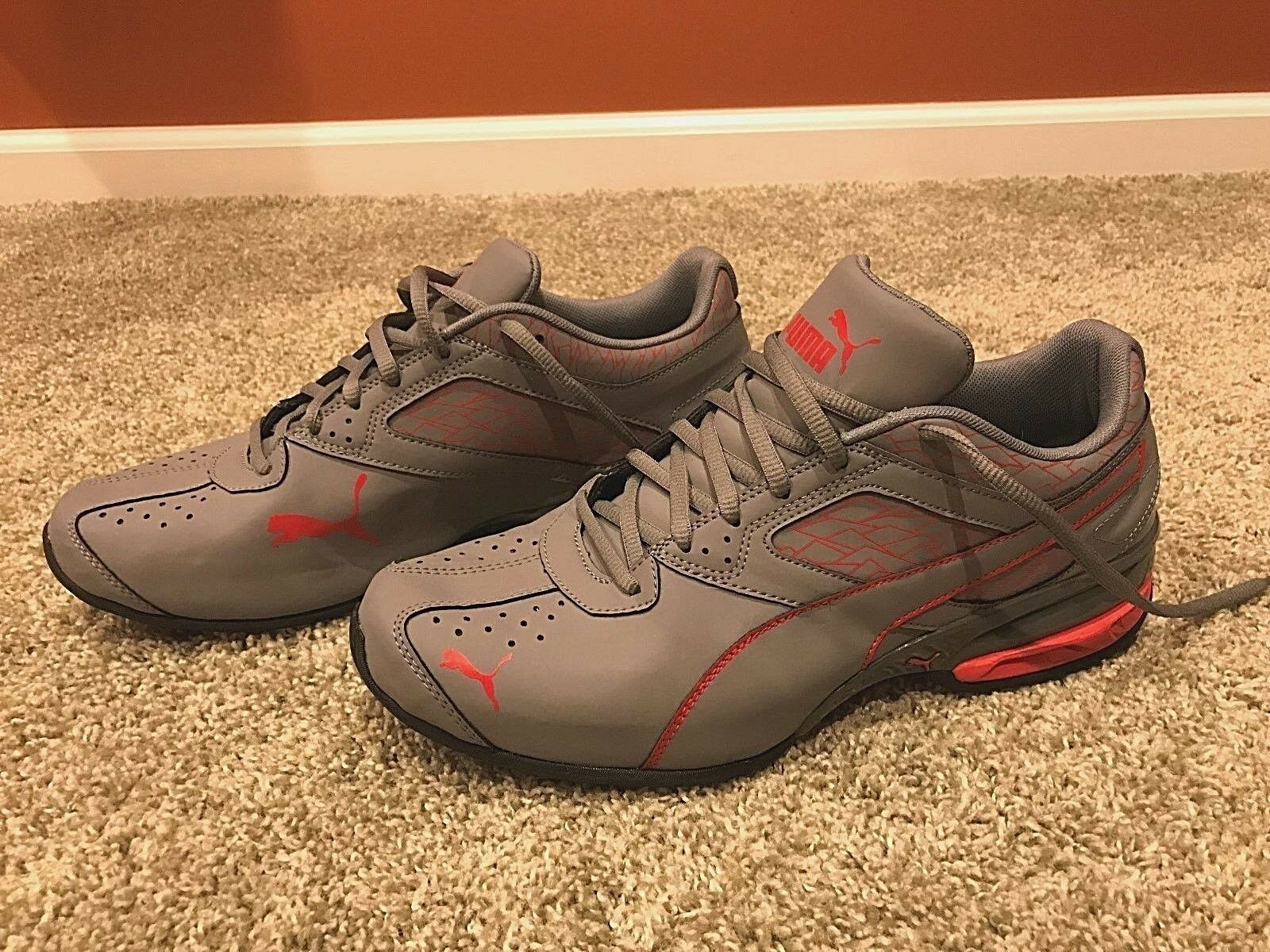 Puma Tazon 6 Fracture Running Athletic shoes Grey Red Size 10