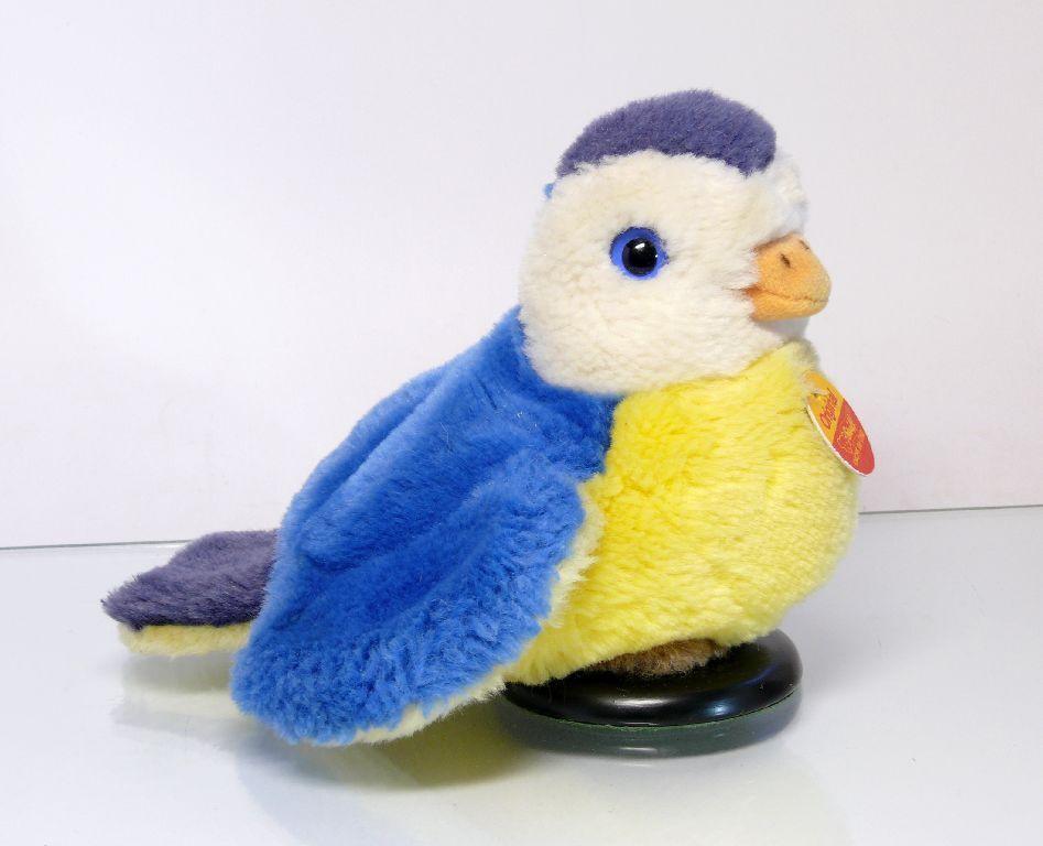 Steiff 092565 Bird Cosy Peep Bird with Flag and Head
