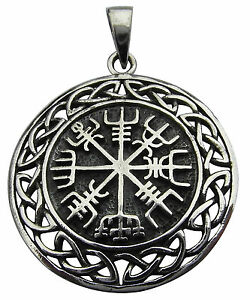 Sterling silver 925 vegvisir asatru compass celtic pendant new image is loading sterling silver 925 vegvisir asatru compass celtic pendant mozeypictures Choice Image
