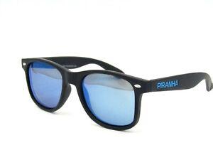 Piranha Hydro Float Polarized Sunglasses, Matte Black / Blue Mirror #67I