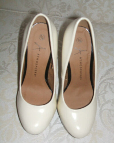 NEW PRIMARK SIZE 2.5 3 3.5 4 6.5 7 IVORY BLACK HIGH HEEL PLATFORM COURT SHOES