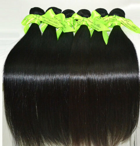 Unprocessed Virgin Indian Malaysian Brazilian Remy Human Hair Weft US Seller