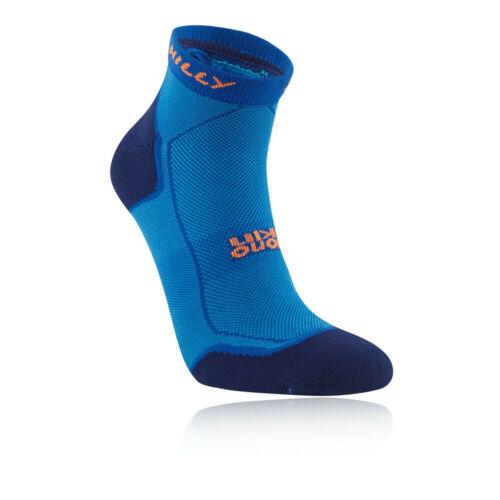 Hilly Homme Pace Quart Chaussettes de Course Bleu De Sport Respirant