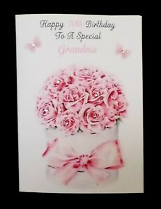 40th 50th 60th 70th Handmade Personalised Ladies Gardening Birthday Card
