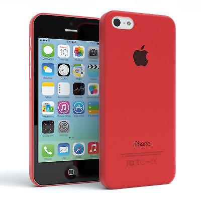 Schutz Hülle für Apple iPhone 5C Cover Handy Case Matt Rot
