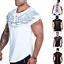 Camiseta-para-hombre-rey-Gimnasio-Fitness-Carga-Palangre-Camiseta-disenador-Curvo-Entrenamiento-Top miniatura 1