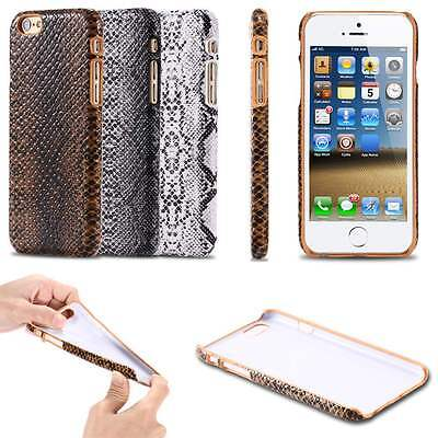 Snake Skin Leather Case Protect Back Hard Cover For iPhone 6/6 Plus/6s/6s Plus