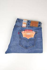 33358 Levi's Levi Strauss 501 Straight Leg Button Fly Blau Herren Jeans Größe