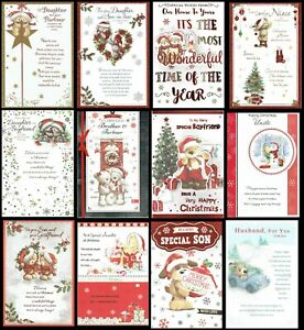 QUALITY CUTE - CHRISTMAS CARD - With LOVELY WORDS - SOMETHING FOR EVERYONE