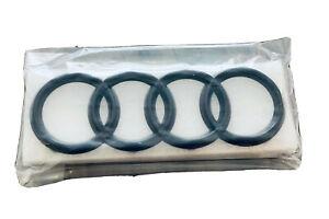 Audi Logo Ringe Emblem Set Schwarz Glanz Front Und Heck