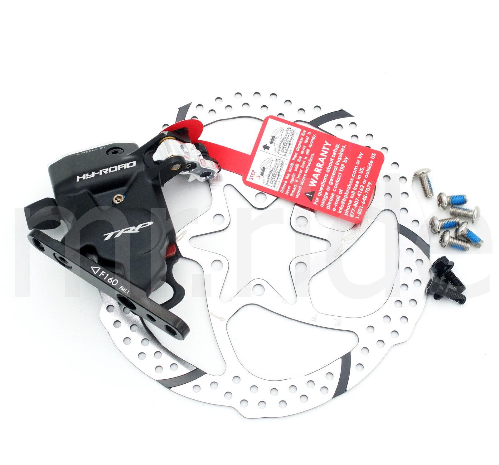 Trp Trp Trp HY RD plana Monte delantero freno de disco hidráulico accionada con cables con rojoor de 160 BK 074ec0