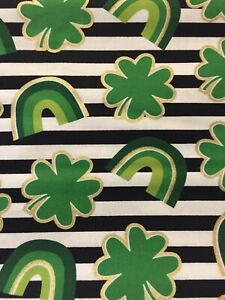 Leprechauns St Patricks Day New Cotton Fabric Sold by the half yard