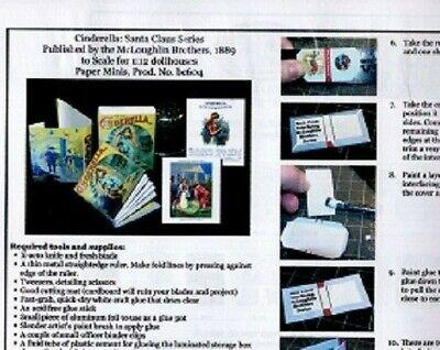 1:12 Paper Mini Dollhouse size Book Kits ~ Adventures of Tom Thumb ~ Wonderful!