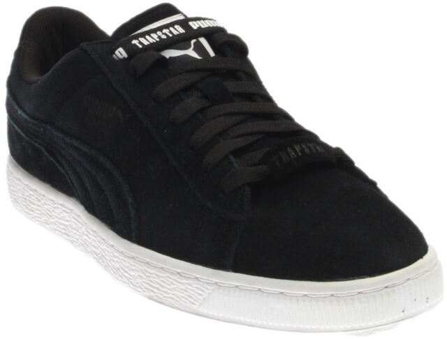 379988fba9d8 PUMA Suede X Trapstar Mens Black Suede Lace up SNEAKERS Shoes 8 for ...