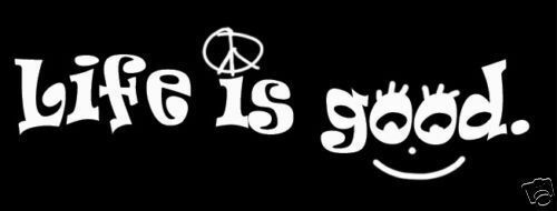 Life is good sticker outdooring peace smile vinyl decalcar window decal