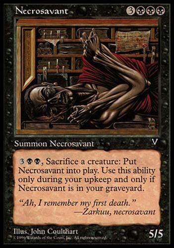1x Necrosavant Visions MtG Magic Black Rare 1 x1 Card Cards