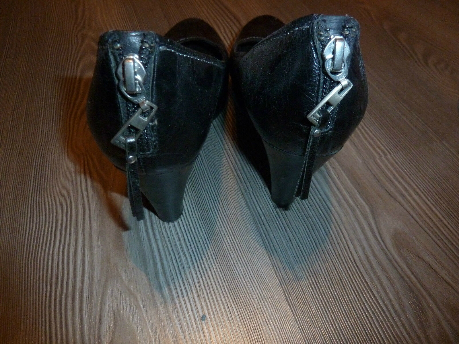 MEXX - sexy,trendy Damen Damens Plateau Pumps Pumps Pumps - schwarz - Gr.39 - Leder/ Samt WOW a69ee5