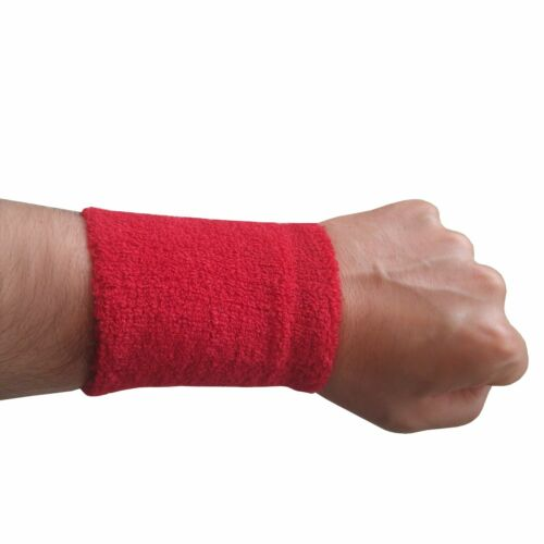 Sport Wristband Sweatband Tennis Squash Gym Sweat  Neon UV Party Different Sizes