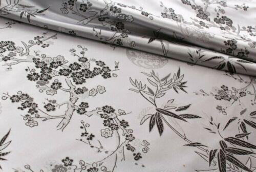 """Chino Brocade Fabric Cherry Blossom tropical Oro Bordado Seda Raso 45/"""""""