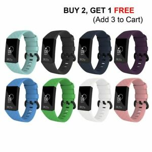 Replacement-Watch-Band-For-Fitbit-Charge-3-Wristband-Silicone-Bracelet-Strap