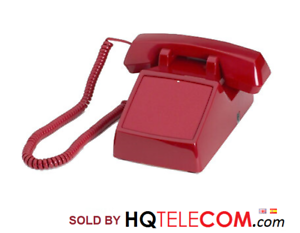 RED No Dialpad No Dial Receive-Only Desktop Phone with Ringer