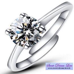 5719c49b184b Caricamento dell immagine in corso Anillo-Plateado-Cristal -tipo-Solitario-Diamante-5-mm-