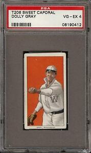 1909-11 T206 Dolly Gray Sweet Caporal 350 Washington PSA 4 VG - EX