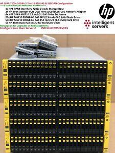HP-3PAR-7200c-10-Gbit-16-9TB-15K-SAS-de-2-niveles-amp-SSD-10U-configuracion-del-SAN