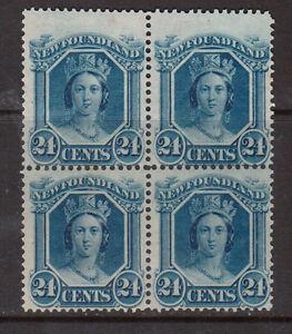 Newfoundland-31i-Mint-Fine-Very-Fine-Block-UL-Stamp-With-Major-Reentry