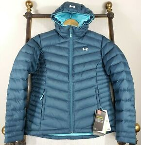 NWT-UNDER-ARMOUR-Small-700-Goose-Down-Womens-Hooded-UA-Storm-Coat-Jacket-250