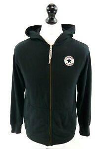 CONVERSE-Boys-Hooded-Jacket-12-13-Years-L-Large-Black-Cotton-amp-Polyester