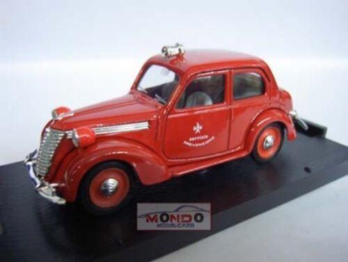 Brumm R181 1:43 Modellino Auto Diecast Fiat 1100E Vigili Del Fuoco 1947