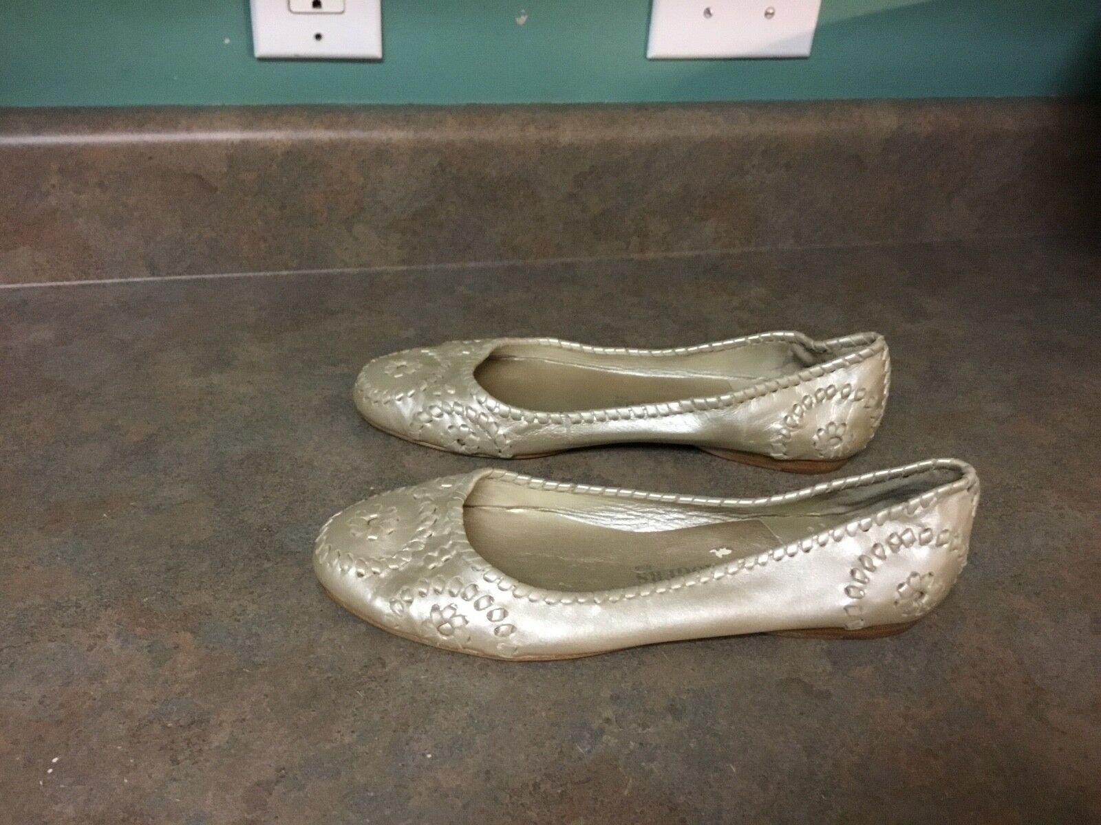 Women's Jack Rogers Gold Ballet Flats Shoes Size 11 M  (CON7)