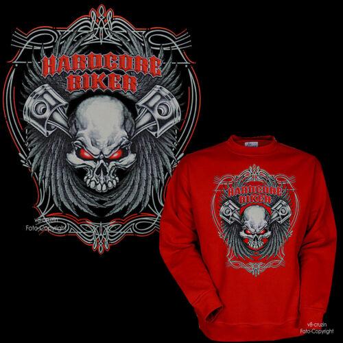 * sweat-shirt biker moto tete de mort skull pull streetfighter 4317