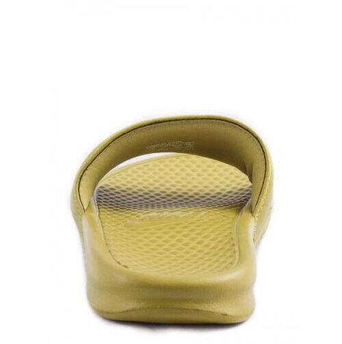 NIKE BENASSI Sandal SWOOSH Parachute Gold/Volt 312618-770 Slide Sandal BENASSI Fast Shipping MO 31b2eb