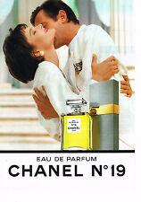 PUBLICITE ADVERTISING 074  1990  CHANEL   eau de parfum n°19
