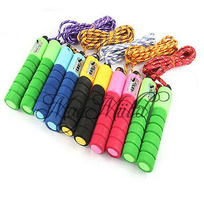 Adjustable Skipping Jump Rope Counter Exercise Workout Gym Fitness Jumping CA