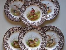 New SPODE WOODLAND TEA / Side PLATES Hare, pheasants,duck, grouse,quail,turkey