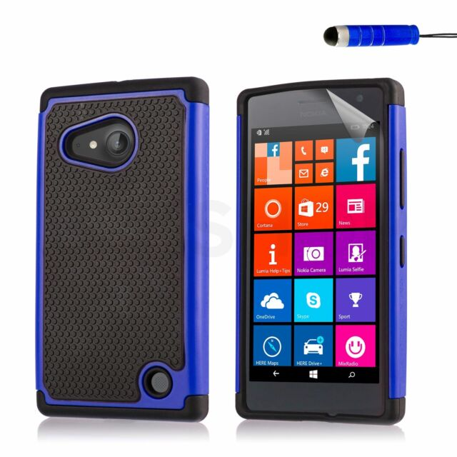 Dual Layer Shockproof Case for Nokia Lumia Phones + Screen Protector & Stylus