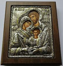 Silber Oklad Ikone HEILIGE FAMILIE Maria Josef Jesus icon Holy Family  Icone
