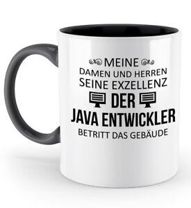 Tasse-Seine-Exzellenz-Java-Entwickler-Kaffeetasse-Kaffeebecher-Geschenk-Spruch