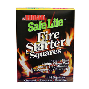 Fire Starter Squares Recycled Wood Chips Wax Grills Smokers Fire Pits Campfires