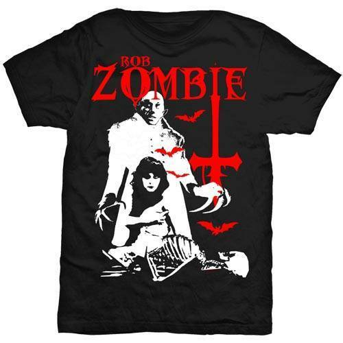 Official ROB ZOMBIE Teenage Nosferatu Men/'s Black T-Shirt